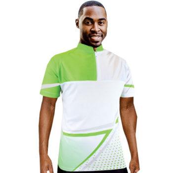Unisex Zip Moisture Management Cycling Sublimation Shirt