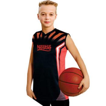 Junior Unisex Basketball Moisture Management Sublimation Shirt