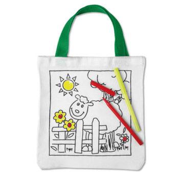 Kiddies Cotton Colour Bag