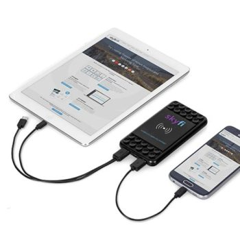 Obsidian Qi Wireless Charger And 4000Mah Power Bank